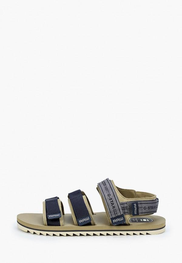 мужские сандалии g-star raw, коричневые