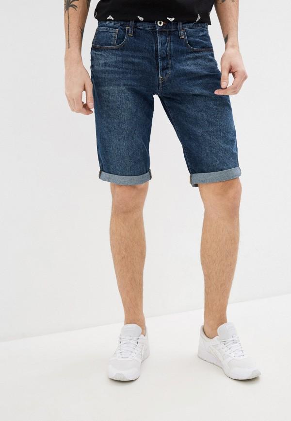 мужские джинсовые шорты g-star raw, синие