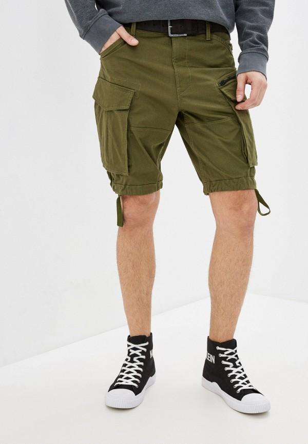 мужские повседневные шорты g-star raw, хаки