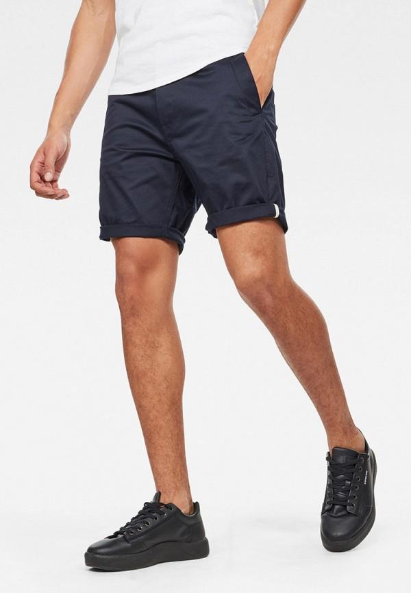 мужские повседневные шорты g-star raw, синие