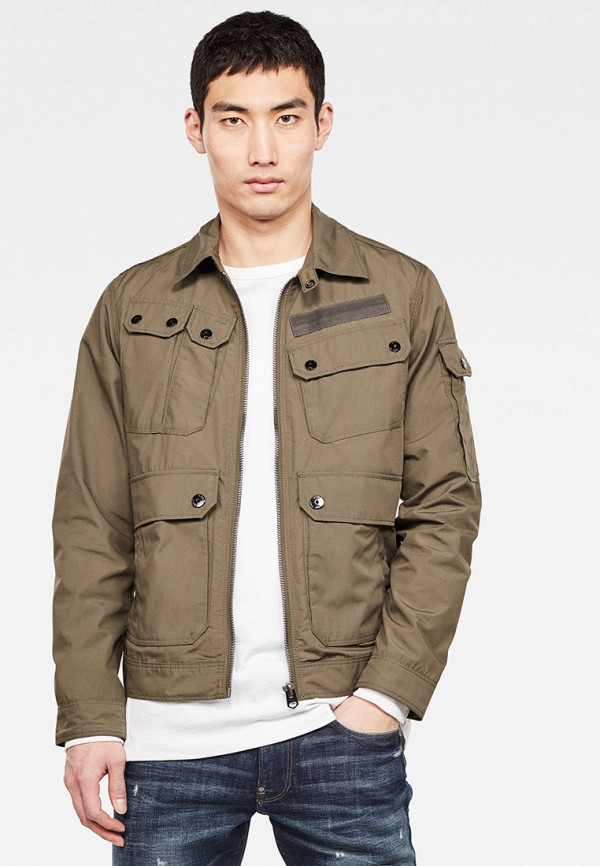 мужская куртка g-star raw, коричневая