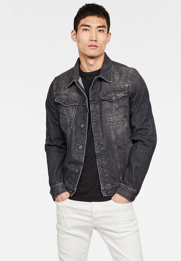 мужская джинсовые куртка g-star raw, черная