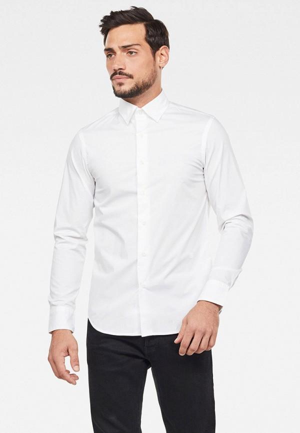 мужская рубашка с длинным рукавом g-star raw, белая