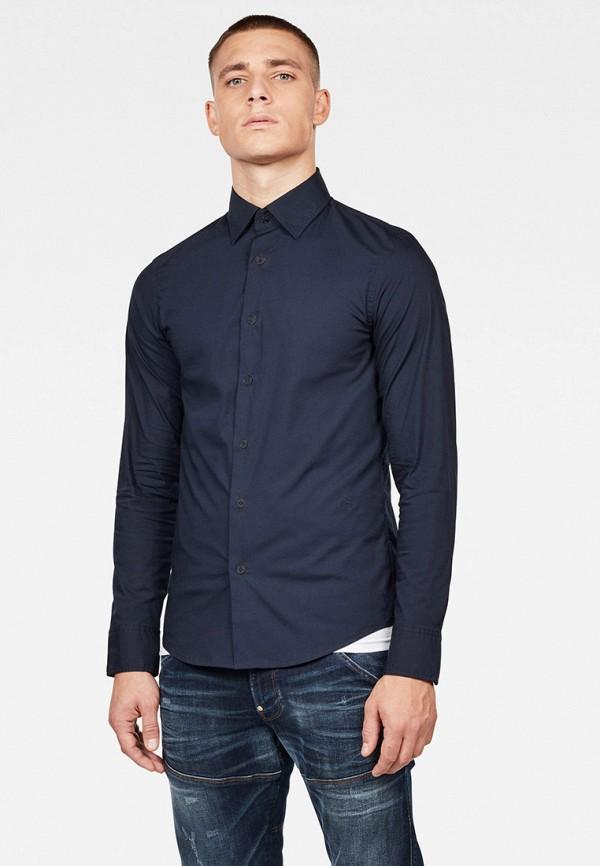 мужская рубашка с длинным рукавом g-star raw, синяя