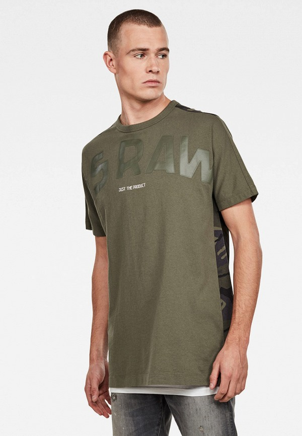 мужская футболка с коротким рукавом g-star raw, хаки