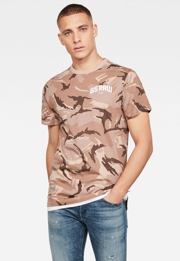 мужская футболка с коротким рукавом g-star raw, разноцветная