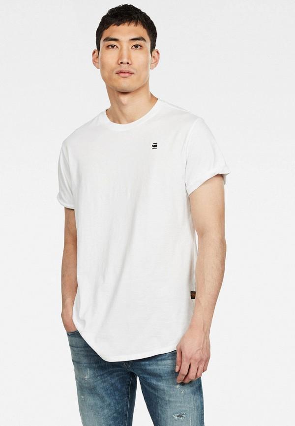 мужская футболка с коротким рукавом g-star raw, белая