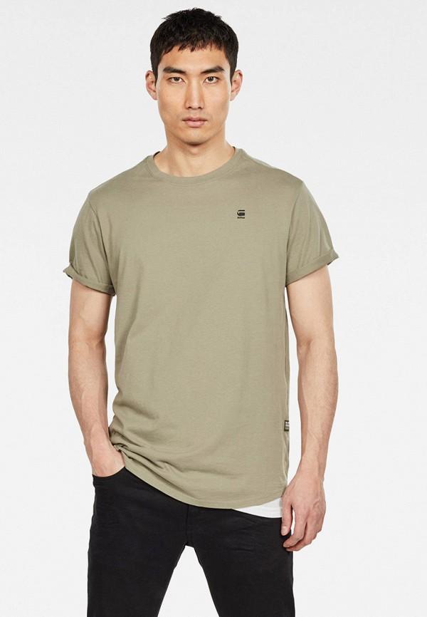 мужская футболка с коротким рукавом g-star raw, золотая