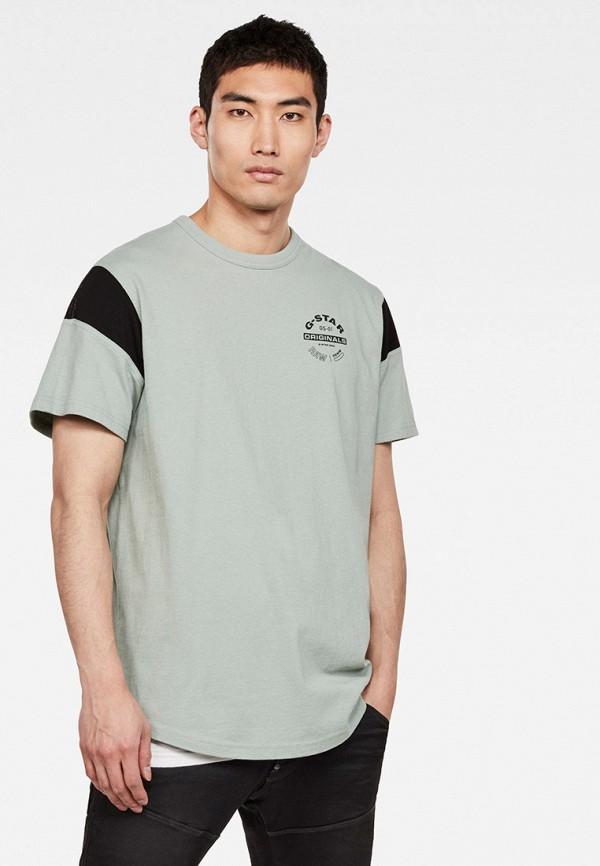 мужская футболка с коротким рукавом g-star raw, серая