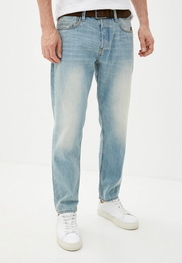 мужские зауженные джинсы g-star raw, голубые