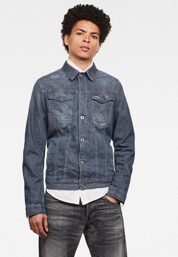 мужская джинсовые куртка g-star raw, синяя