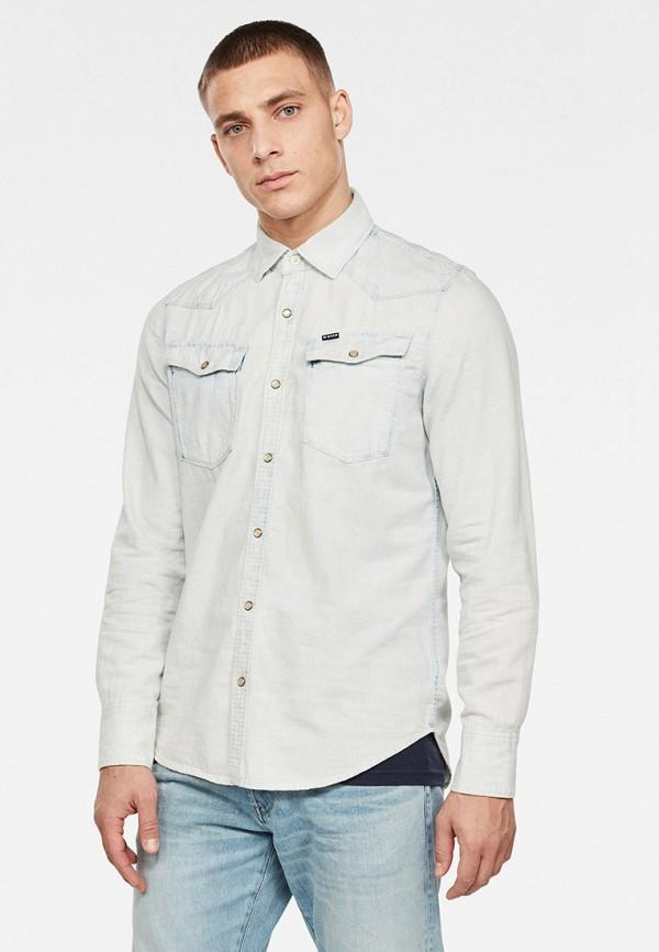 мужская рубашка с длинным рукавом g-star raw, голубая
