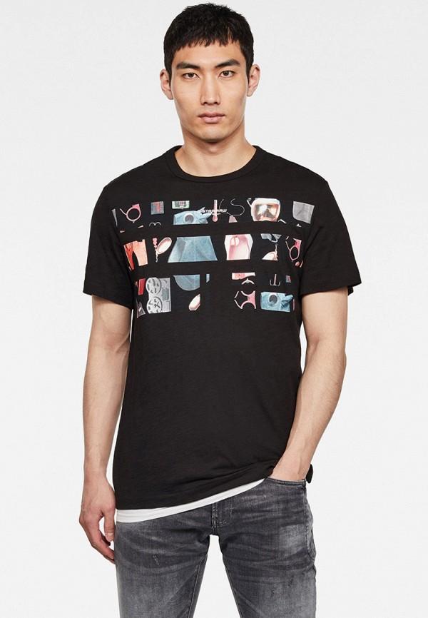 мужская футболка с коротким рукавом g-star raw, черная
