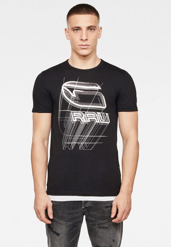 мужская футболка g-star raw, черная