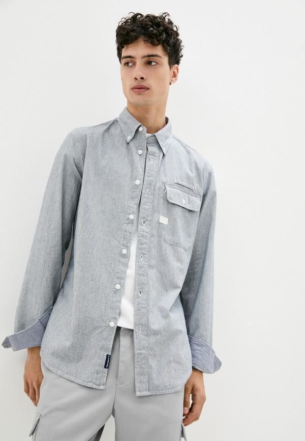 мужская рубашка с длинным рукавом g-star raw, серая