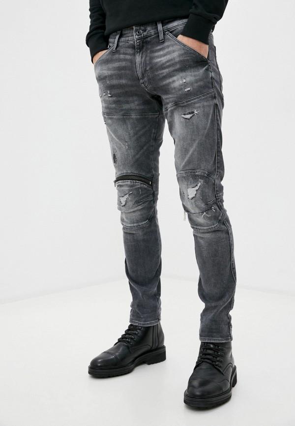 мужские зауженные джинсы g-star raw, серые