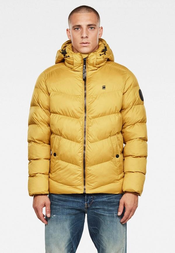 мужская куртка g-star raw, желтая