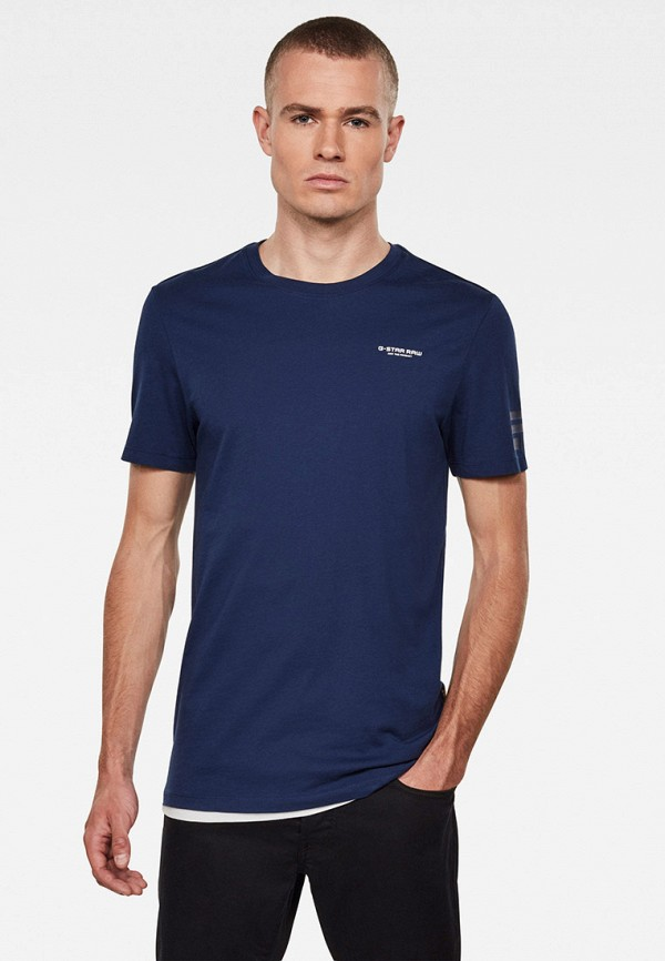 мужская футболка с коротким рукавом g-star raw, синяя