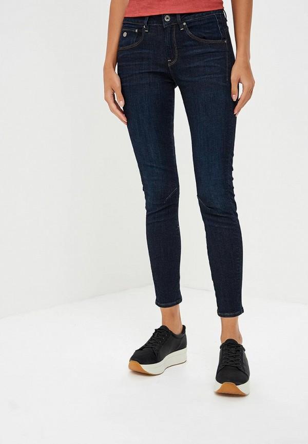 женские джинсы скинни g-star raw, синие