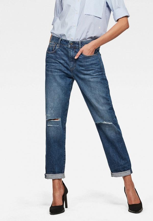 женские джинсы бойфренд g-star raw, синие