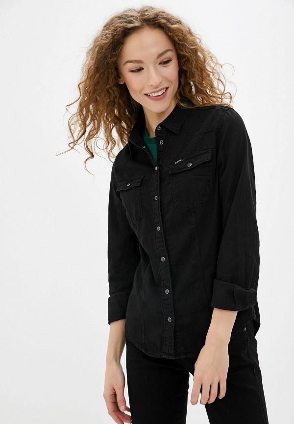 женская джинсовые рубашка g-star raw, черная