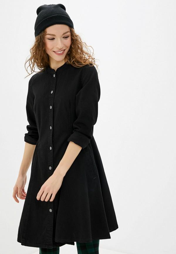 женское джинсовые платье g-star raw, черное