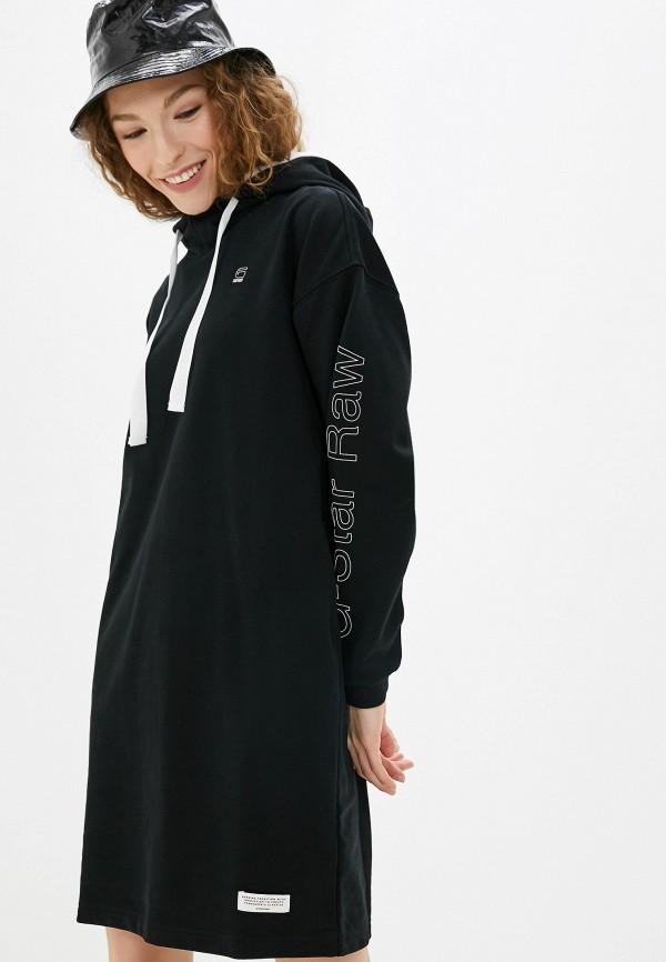 женское платье g-star raw, черное
