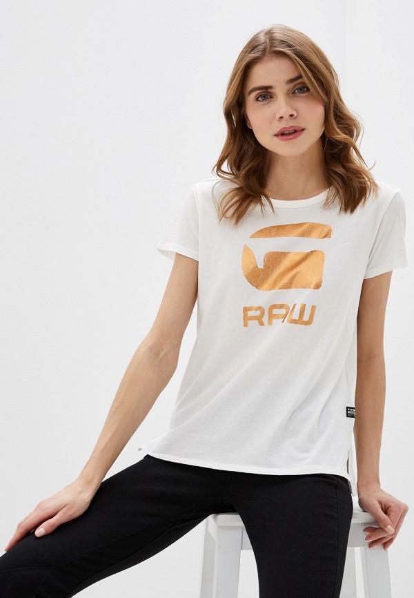 женская футболка g-star raw, белая