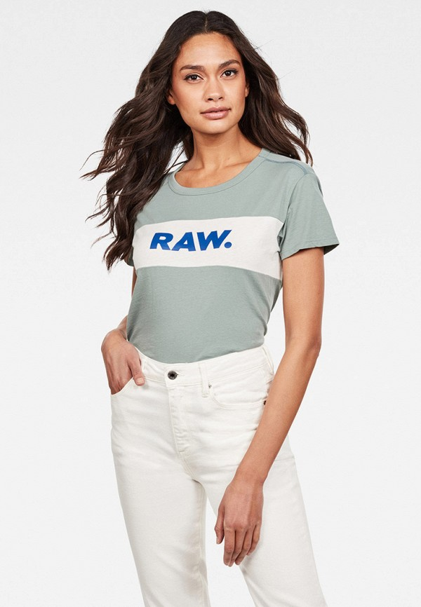 женская футболка g-star raw, бирюзовая
