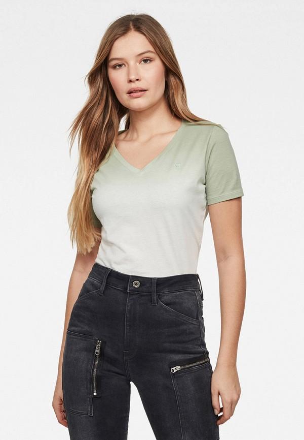 женская футболка g-star raw, зеленая