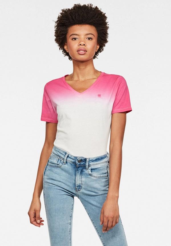 женская футболка g-star raw, разноцветная