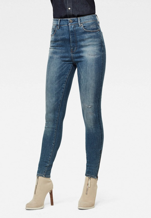 женские джинсы g-star raw, синие