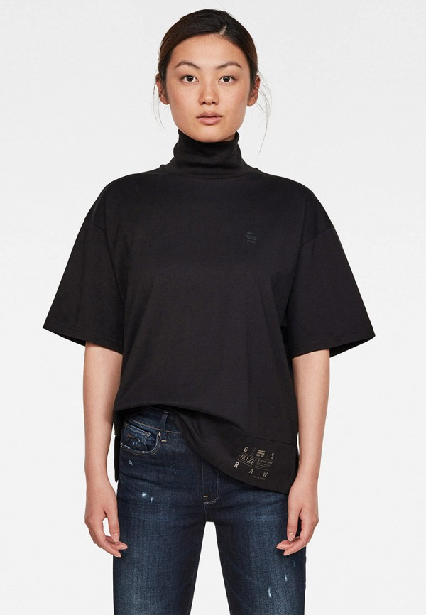 женская футболка g-star raw, черная