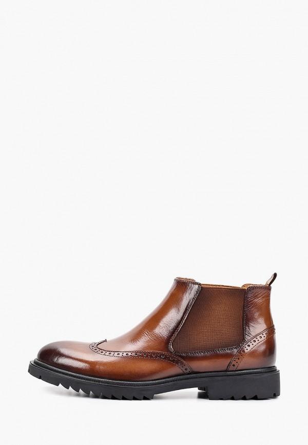мужские ботинки guido grozzi, коричневые