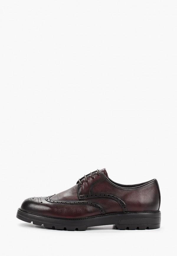 Мужские бордовые осенние кожаные туфли