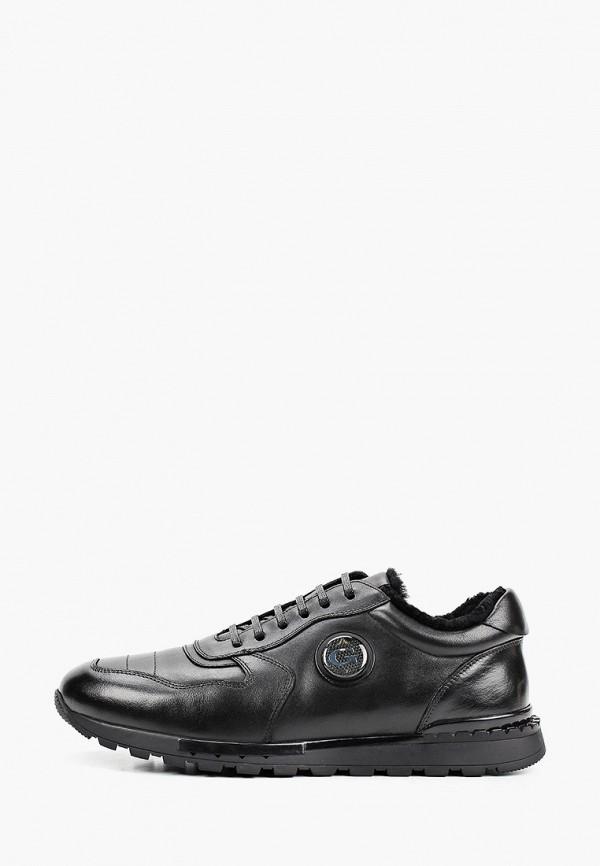 мужские низкие кроссовки guido grozzi, черные