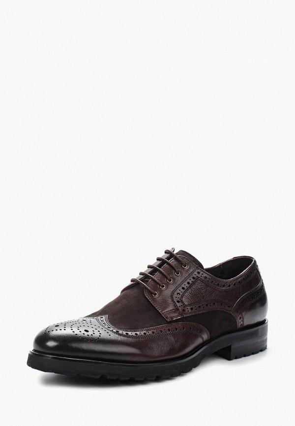 мужские туфли-дерби guido grozzi, коричневые