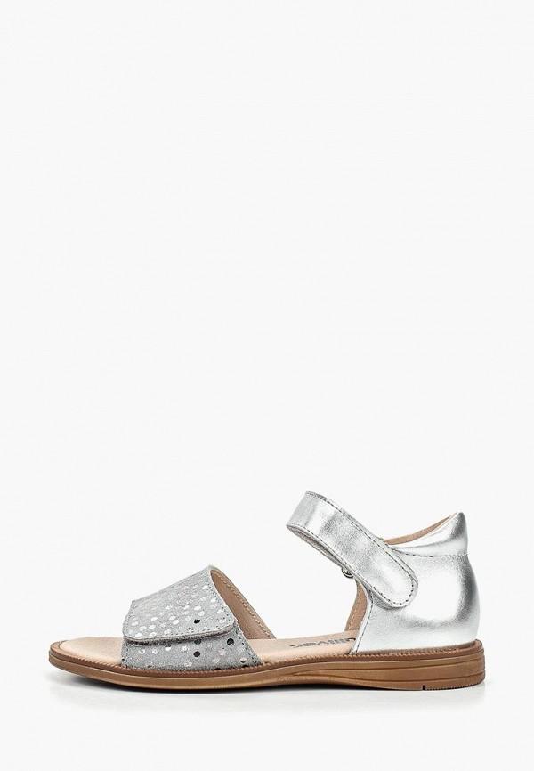 сандалии gulliver для девочки, серебряные