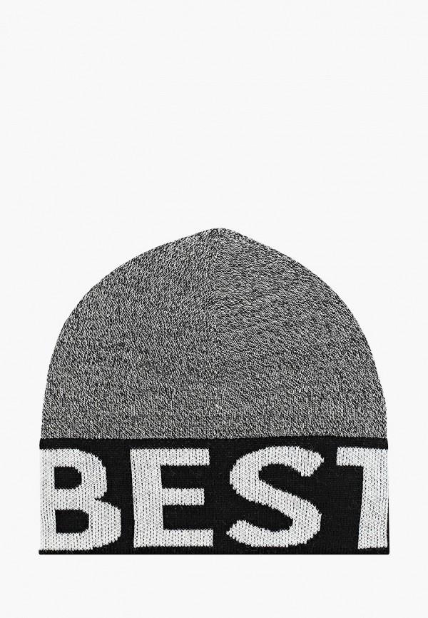 шапка gulliver для мальчика, серая