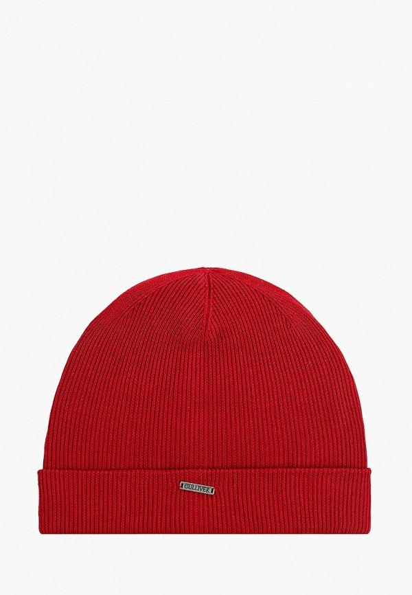 шапка gulliver для мальчика, бордовая