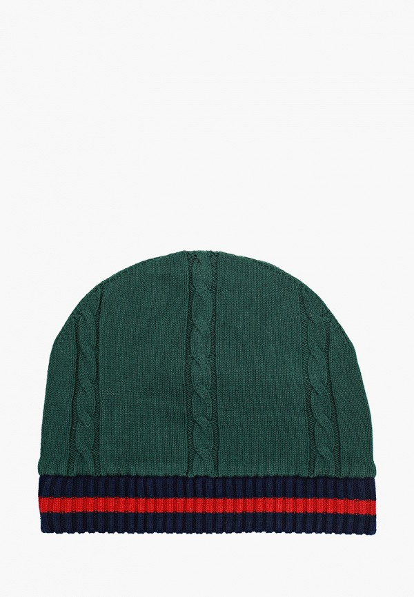 шапка gulliver для мальчика, зеленая