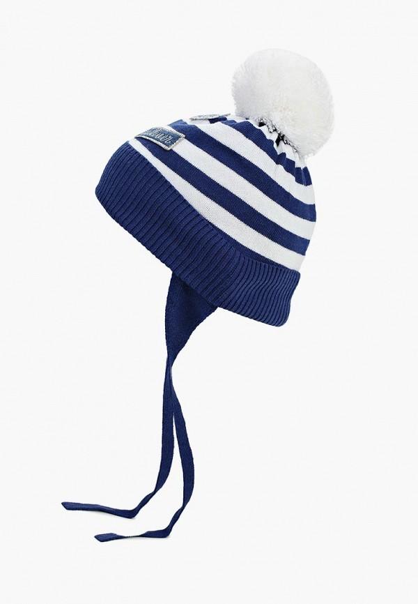 шапка gulliver для девочки, синяя