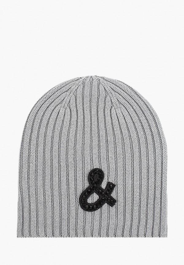 шапка gulliver для девочки, серая