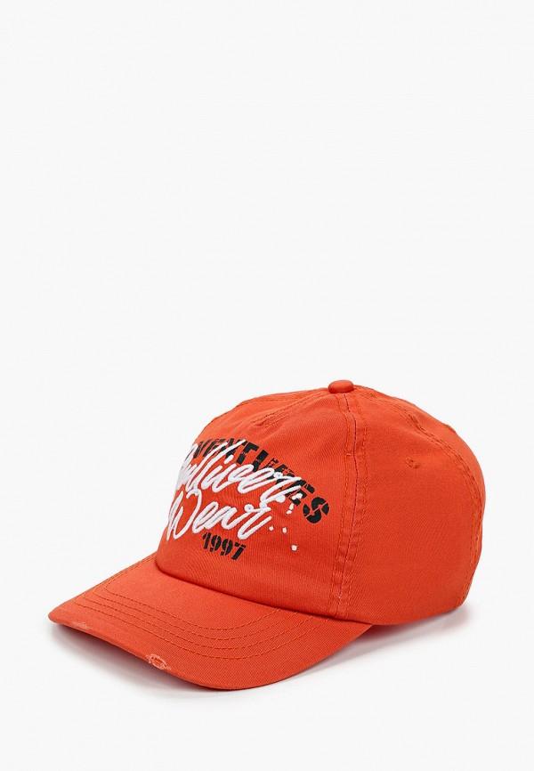 бейсболка gulliver для девочки, оранжевая