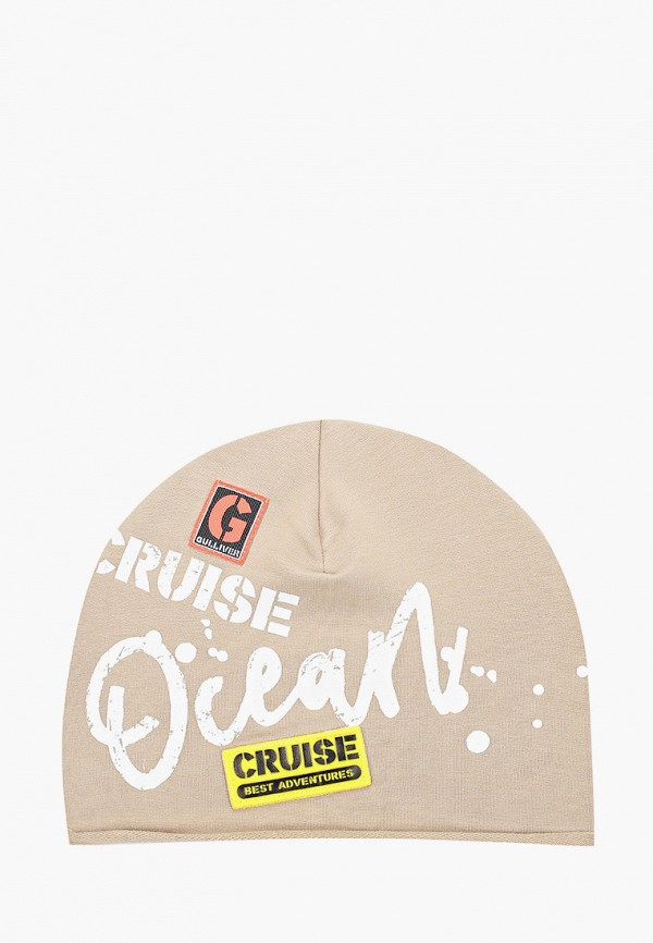 шапка gulliver для девочки, бежевая