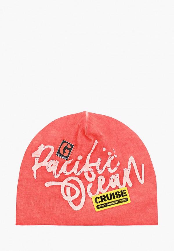 шапка gulliver для девочки, оранжевая