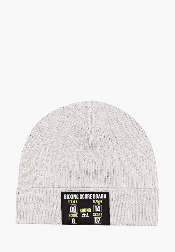 шапка gulliver для девочки, серебряная
