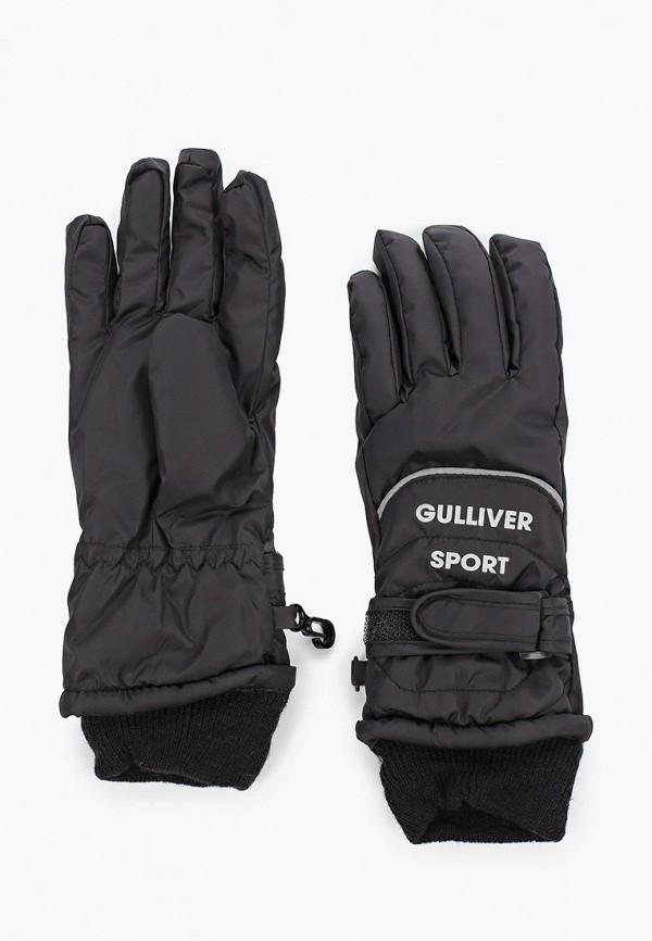 перчатки gulliver для мальчика, черные