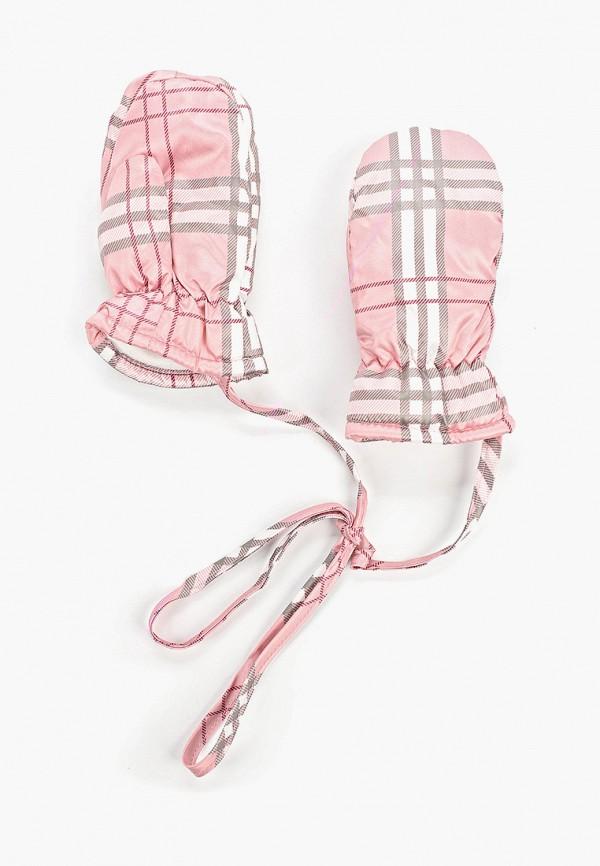 варежки gulliver для девочки, розовые