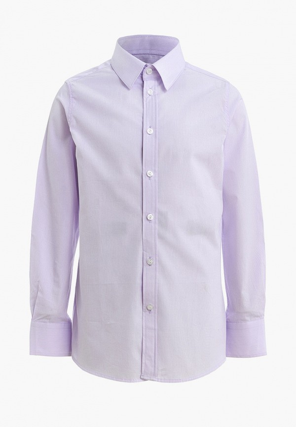 рубашка gulliver для мальчика, фиолетовая
